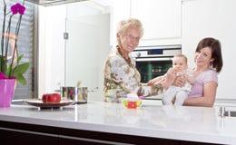 Trois rétablissements dans la cuisine Photos libres de droits