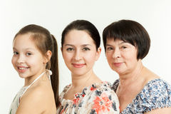 Trois rétablissements des femmes Images libres de droits