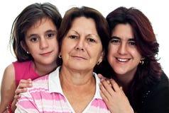 Trois rétablissements des femmes latins Photos stock