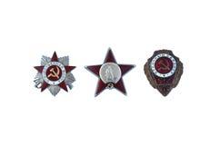 Trois récompenses de l'URSS Images libres de droits