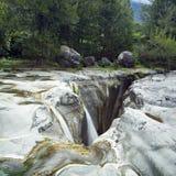 Trois Roches Wasserfall Stockfotos