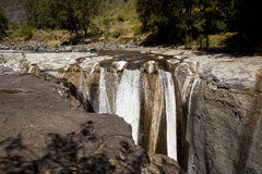 The Trois Roches Waterfall Stock Photography