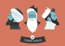 Trois rois de hippies illustration de vecteur