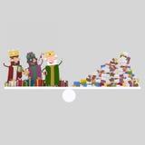 Trois rois et tas magiques d'équilibre de lettres 3d Photographie stock