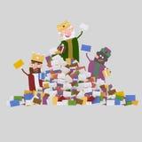 Trois rois et tas magiques des lettres 3d Images libres de droits