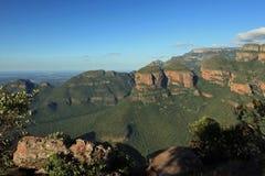 Trois Rondavels dans Mpumalanga Images stock