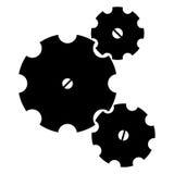 Trois roues dentées Photo libre de droits