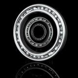 Trois roulements à billes avec différents angles Photographie stock