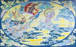 Trois royaumes peignant le tableau de couleur Image stock