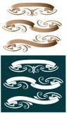 Trois rubans d'imprimante par ligne illustration stock