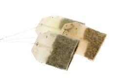 Trois sachets à thé image stock