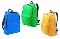 Trois sacs à dos photographie stock libre de droits