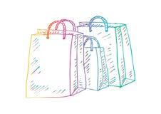 Trois sacs à provisions illustration libre de droits