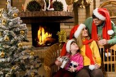 Trois Santa Photos libres de droits