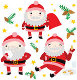Trois Santa Characters drôle Photos stock