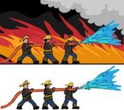 Trois sapeurs-pompiers Image libre de droits