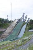 Trois sauts à skis Image stock