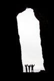 Trois silhouettes Photos libres de droits