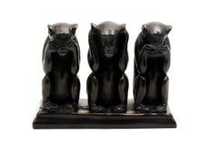 Trois singes sages Images libres de droits