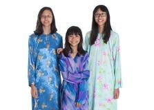 Trois soeurs adolescentes malaises asiatiques III Images stock
