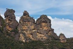 Trois soeurs dans les montagnes bleues, Australie Image stock