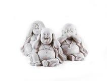 Trois statues Photo libre de droits