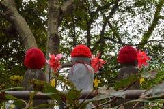 Trois statues d'Ojizo-Sama photographie stock libre de droits