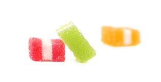 Trois sucreries différentes de fruit-pâte. Images libres de droits