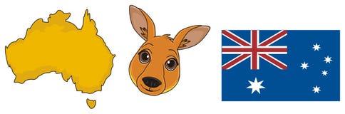 Trois symboles d'Australie illustration de vecteur
