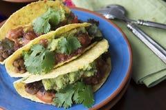 Trois Tacos de Vegan Photographie stock