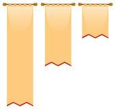 Trois tailles de drapeau avec le style médiéval illustration de vecteur