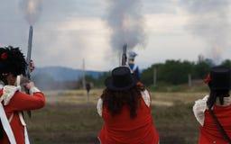 Trois tirs Images libres de droits
