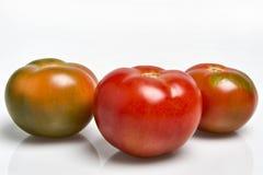 Trois tomates rouges Photographie stock libre de droits
