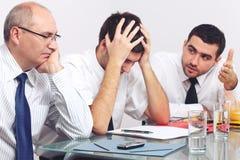 Trois tristes et homme d'affaires déprimé Photos libres de droits