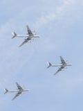 Trois TU-95 chez Victory Parade Photos libres de droits