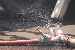 Trois tuyaux d'incendie Photos libres de droits