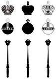 Les attributs du roi. illustration stock