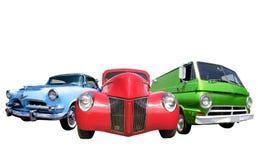 Trois véhicules classiques photos stock