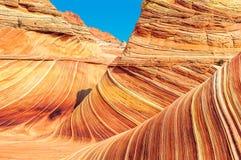 Trois vague, la vague, sud-ouest, Arizona - Utah Photo libre de droits