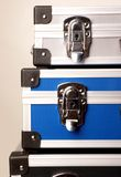 Trois valises Photo stock