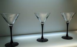 Trois verres Photo stock