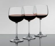 Trois verres Photographie stock libre de droits
