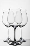Trois verres de vin Images libres de droits