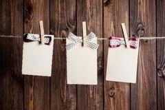Trois vieilles feuilles de papier Photo stock