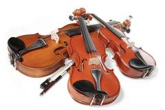 Trois violons Photos libres de droits