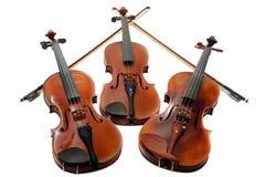 Trois violons Photo libre de droits