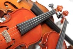 Trois violons. Orientation molle Photographie stock libre de droits