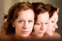 Trois visages Image libre de droits
