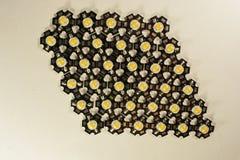 Trois watts LED sur un fond clair LED pour des usines image stock