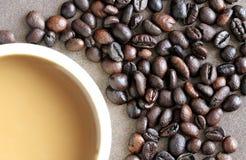 Troisième abrégé sur boisson de café de spécialité de vague Images stock